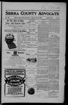 Sierra County Advocate, 01-26-1906 by J.E. Curren