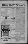 Sierra County Advocate, 04-20-1906 by J.E. Curren