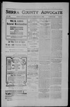 Sierra County Advocate, 10-05-1906 by J.E. Curren
