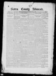 Sierra County Advocate, 1885-02-07 by J.E. Curren