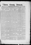 Sierra County Advocate, 1885-02-14 by J.E. Curren