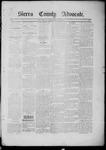 Sierra County Advocate, 1885-03-21 by J.E. Curren