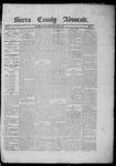 Sierra County Advocate, 1885-04-18 by J.E. Curren