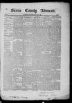 Sierra County Advocate, 1885-04-25 by J.E. Curren