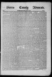 Sierra County Advocate, 1885-05-09 by J.E. Curren