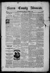 Sierra County Advocate, 1885-09-12 by J.E. Curren