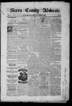 Sierra County Advocate, 1885-09-26 by J.E. Curren
