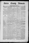 Sierra County Advocate, 1885-11-11 by J.E. Curren