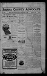 Sierra County Advocate, 1905-12-01 by J.E. Curren