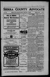 Sierra County Advocate, 1906-07-13 by J.E. Curren