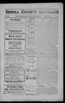 Sierra County Advocate, 1908-07-03