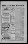 Sierra County Advocate, 1908-09-11 by J.E. Curren