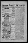 Sierra County Advocate, 1908-09-18 by J.E. Curren