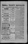 Sierra County Advocate, 1908-09-25 by J.E. Curren