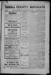 Sierra County Advocate, 1908-10-09 by J.E. Curren