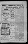 Sierra County Advocate, 1908-11-13 by J.E. Curren