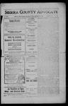 Sierra County Advocate, 1908-11-20 by J.E. Curren