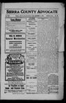 Sierra County Advocate, 1908-12-11 by J.E. Curren