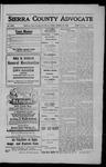 Sierra County Advocate, 1909-01-22 by J.E. Curren