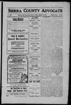 Sierra County Advocate, 1909-01-29 by J.E. Curren