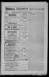 Sierra County Advocate, 1909-03-12 by J.E. Curren