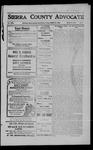 Sierra County Advocate, 1909-03-26 by J.E. Curren