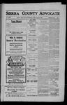Sierra County Advocate, 1909-04-23 by J.E. Curren