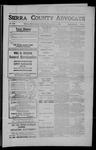 Sierra County Advocate, 1909-06-11 by J.E. Curren