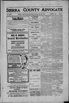 Sierra County Advocate, 1909-06-25 by J.E. Curren