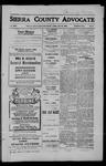 Sierra County Advocate, 1909-07-16 by J.E. Curren
