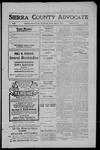 Sierra County Advocate, 1909-07-23 by J.E. Curren