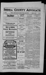 Sierra County Advocate, 1909-07-30 by J.E. Curren