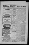 Sierra County Advocate, 1909-08-06 by J.E. Curren