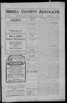Sierra County Advocate, 1909-08-13 by J.E. Curren