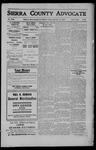 Sierra County Advocate, 1909-09-10 by J.E. Curren