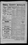 Sierra County Advocate, 1909-09-17 by J.E. Curren