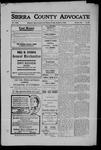 Sierra County Advocate, 1909-10-08 by J.E. Curren