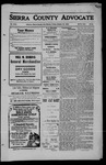 Sierra County Advocate, 1909-10-22 by J.E. Curren