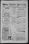 Sierra County Advocate, 1909-10-29 by J.E. Curren