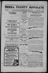 Sierra County Advocate, 1909-11-05 by J.E. Curren