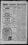 Sierra County Advocate, 1909-11-12 by J.E. Curren