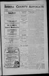 Sierra County Advocate, 1909-11-26 by J.E. Curren