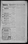 Sierra County Advocate, 1909-12-03 by J.E. Curren