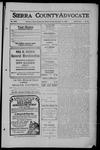 Sierra County Advocate, 1909-12-17 by J.E. Curren