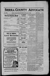 Sierra County Advocate, 1910-04-01 by J.E. Curren