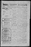Sierra County Advocate, 1910-07-22 by J.E. Curren