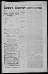 Sierra County Advocate, 1910-09-16 by J.E. Curren