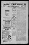 Sierra County Advocate, 1910-10-21 by J.E. Curren