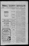 Sierra County Advocate, 1910-11-11 by J.E. Curren