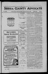 Sierra County Advocate, 1910-11-18 by J.E. Curren